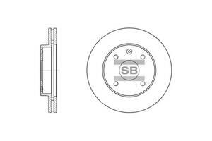 Тормозной диск CHEVROLET EVANDA / BAOJUN (SGMW) 630 / DAEWOO EVANDA (KLAL) / BUICK 2000-2015 г.