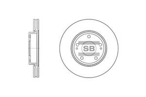Тормозной диск KIA (DYK) K5 / JAC REFINE S5 / KIA VENGA (YN) / HYUNDAI i30 (FD) 1996-2015 г.