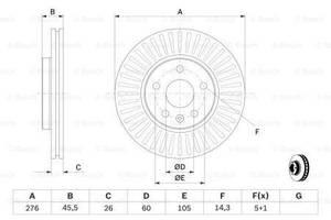 Тормозной диск  передний CHEVROLET AVEO   T300    2011-\ CHEVROLET CRUZE J300  2009-