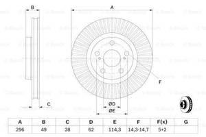 Тормозной диск  передний LEXUS V4 2006- 2018 \ TOYOTA CAMRY V4\ V5 2006-