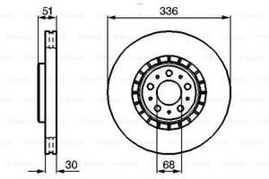 Тормозной диск  передний VOLVO XC90 I 275 2002-