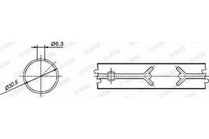 Втулка головки шатуна MULTICAR UX100 / MERCEDES-BENZ O 100 1955-2006 г.