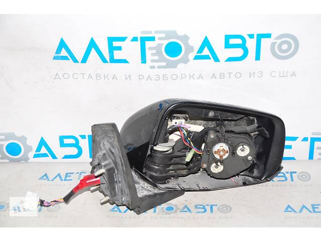 купить бу Зеркало боковое правое Honda CRZ 11-16 7 пинов, поворотник, черное, только корпус 76200-SZT-306ZA разборка Алето Авто в Киеве