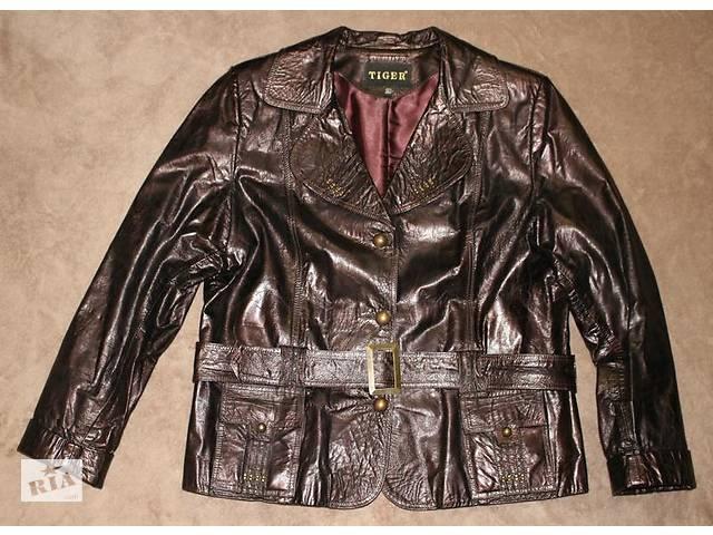 бу Куртка натуральная лаковая кожаная  6a0aae9446b0e