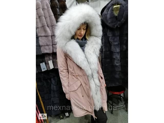 Шикарная парка с мехом енота, очень теплая, меховая куртка- объявление о продаже  в Львове