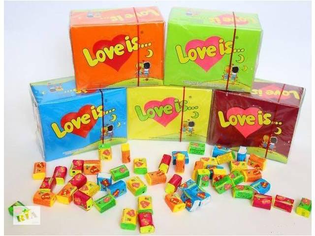 Жевательная резинка Love is 100 шт. Оригинал Турция