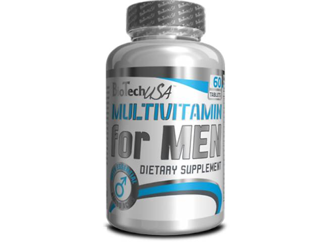 купить бу Мультивитамины BioTech USA Multivitamin For Men 60 таб (101086) в Полтаві