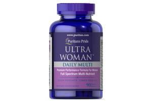 Мультивитамины для женщин Puritans Pride Woman Daily Multi Timed 90 капсул (32477)