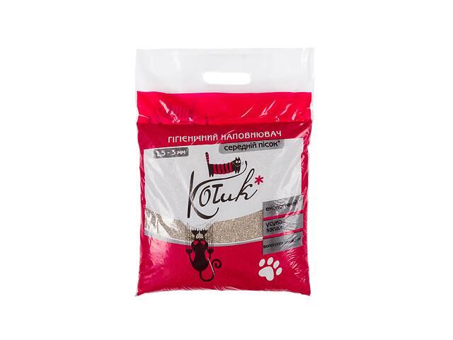 купить бу Наповнювач для котів КОТиК бентоніт середній 1,5 – 3 мм 3 кг (червоний) в Києві