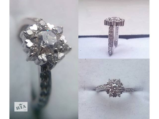 бу Золотое кольцо из белого золота 16 размер в Одессе
