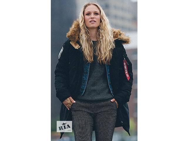 Зимняя женская куртка аляска Altitude W Parka Alpha Industries (черная)- объявление о продаже  в Львове