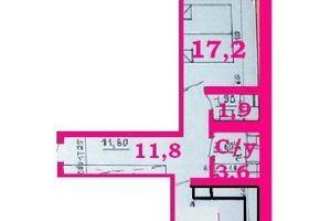 Продається 1-кімнатна квартира 58.7 кв. м у Чернігові