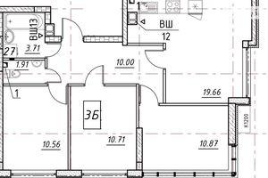 Продається 3-кімнатна квартира 63.05 кв. м у Одесі