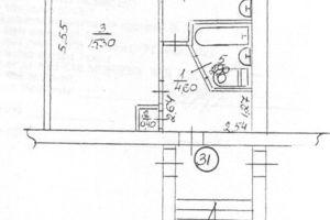 Продается 1-комнатная квартира 30.1 кв. м в Богуславе