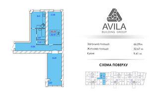 Продається 2-кімнатна квартира 66.09 кв. м у Хмельницькому