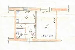 Продается 1-комнатная квартира 37 кв. м в Балаклее