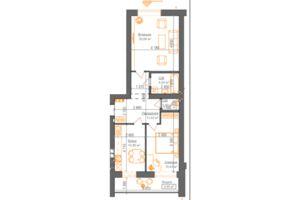 Продается 2-комнатная квартира 65.17 кв. м в Ирпене