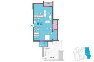 Продается 3-комнатная квартира 96.6 кв. м в Харькове
