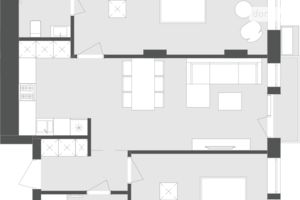Продається 2-кімнатна квартира 74.93 кв. м у Львові