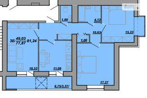 Продается 3-комнатная квартира 85.3 кв. м в Тернополе