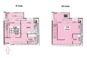 Продається 3-кімнатна квартира 66 кв. м у Чернігові