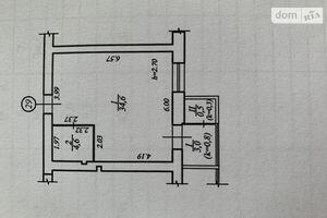 Продается 1-комнатная квартира 43 кв. м в Днепре