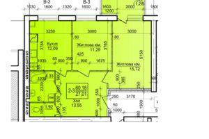 Продается 2-комнатная квартира 60.18 кв. м в Василькове
