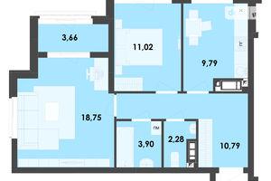 Продается 2-комнатная квартира 60.19 кв. м в Житомире