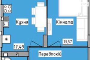 Продается 1-комнатная квартира 43.2 кв. м в Львове