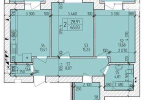 Продається 2-кімнатна квартира 67.39 кв. м у Хмельницькому