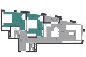 Продается 2-комнатная квартира 81.58 кв. м в Львове