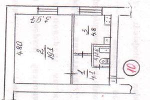 Продається 1-кімнатна квартира 30.6 кв. м у Миколаєві