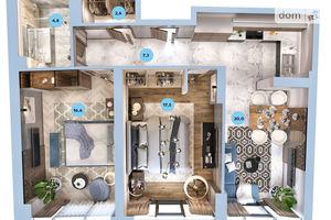 Продается 2-комнатная квартира 68.73 кв. м в Одессе