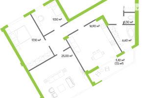 Продается 3-комнатная квартира 102 кв. м в Луцке