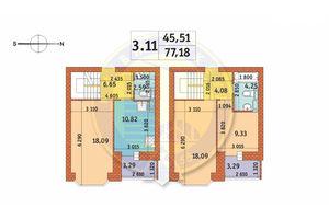 Продается 3-комнатная квартира 77.18 кв. м в Киеве
