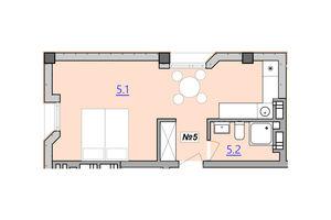 Продается 1-комнатная квартира 31.1 кв. м в Тернополе