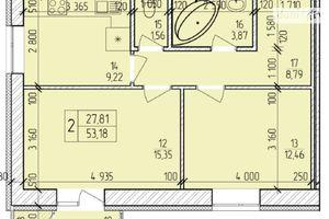 Продається 2-кімнатна квартира 54.55 кв. м у Хмельницькому