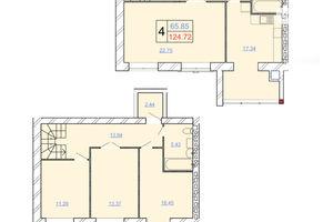 Продается 4-комнатная квартира 124.72 кв. м в Хмельницком