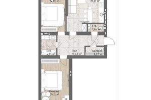 Продается 2-комнатная квартира 79.15 кв. м в Одессе