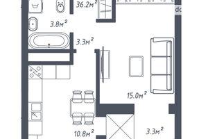 Продається 1-кімнатна квартира 36.2 кв. м у Львові