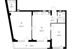 Продается 2-комнатная квартира 78.4 кв. м в Ирпене
