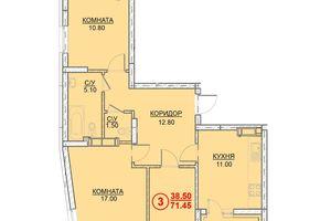 Продается 3-комнатная квартира 71.45 кв. м в Вышгороде