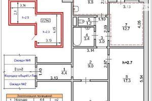 Продается 3-комнатная квартира 76 кв. м в Чернигове
