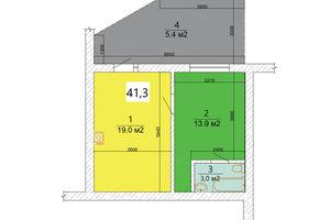 Продається 1-кімнатна квартира 41.3 кв. м у Ужгороді