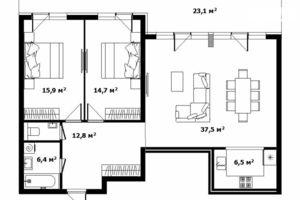 Продается 3-комнатная квартира 100 кв. м в Ужгороде